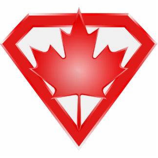 Escudo canadiense del héroe de la bandera, imán de imán fotoescultura