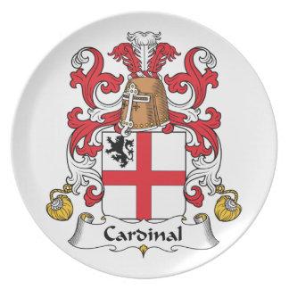 Escudo cardinal de la familia plato