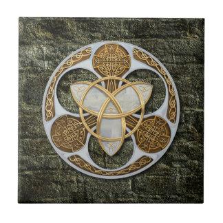 Escudo céltico azulejo cuadrado pequeño