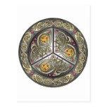 Escudo céltico Bejeweled Tarjetas Postales