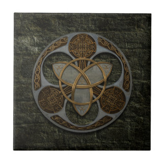 Escudo céltico de la trinidad azulejos