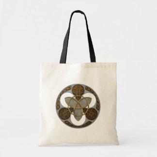 Escudo céltico de la trinidad bolsa