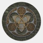 Escudo céltico de la trinidad etiqueta