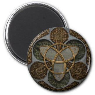 Escudo céltico de la trinidad imán para frigorífico