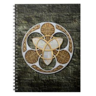 Escudo céltico libros de apuntes con espiral