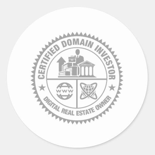 escudo certificado del inversor del ámbito pegatinas redondas