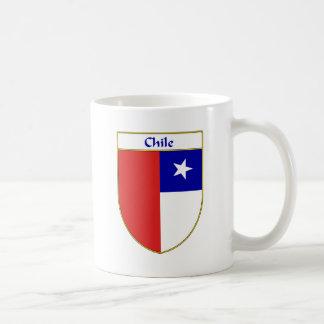 Escudo chileno de la bandera taza básica blanca