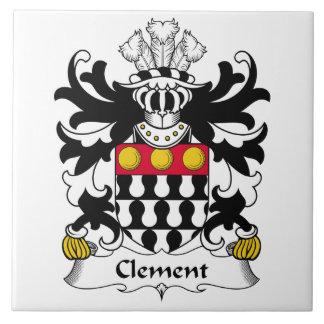 Escudo clemente de la familia azulejo cuadrado grande