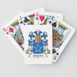 Escudo clemente de la familia baraja cartas de poker