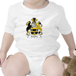 Escudo cobarde de la familia traje de bebé