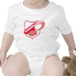 Escudo color de rosa inglés de la bola de trajes de bebé