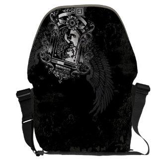 Escudo con alas de Griffon Bolsa De Mensajería