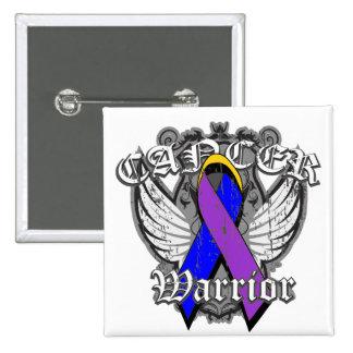 Escudo con alas guerrero del cáncer de vejiga pins
