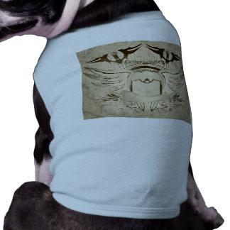 Escudo con las alas camiseta sin mangas para perro