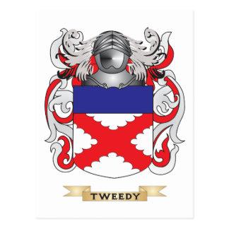 Escudo con traje de tweed de la familia escudo de tarjetas postales