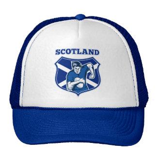 escudo corriente de la bandera de Escocia de la bo Gorras De Camionero