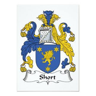 Escudo corto de la familia invitación personalizada