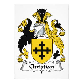 Escudo cristiano de la familia anuncio