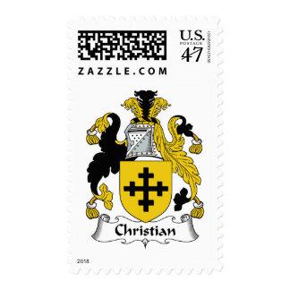 Escudo cristiano de la familia estampilla