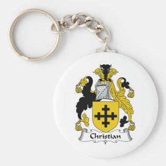Escudo cristiano de la familia llaveros