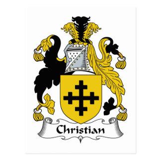 Escudo cristiano de la familia tarjetas postales