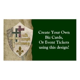 Escudo cristiano de la trinidad - cree sus propias tarjetas de visita