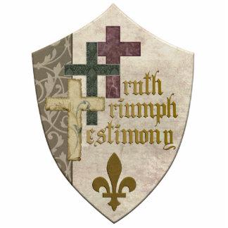 Escudo cristiano de la trinidad - soporte de acríl esculturas fotográficas