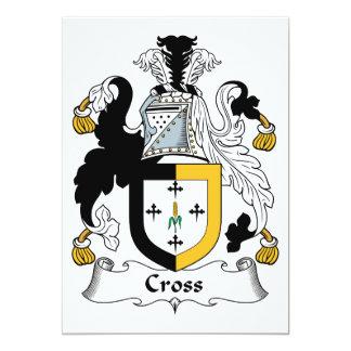 """Escudo cruzado de la familia invitación 5"""" x 7"""""""