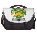 Escudo cuajado de la familia bolsas para portatil