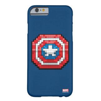 escudo de 16 bits de capitán América de Pixelated Funda Barely There iPhone 6
