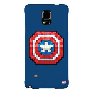 escudo de 16 bits de capitán América de Pixelated Funda Galaxy Note 4
