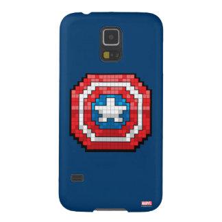 escudo de 16 bits de capitán América de Pixelated Funda Galaxy S5