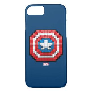 escudo de 16 bits de capitán América de Pixelated Funda iPhone 7