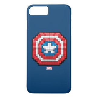 escudo de 16 bits de capitán América de Pixelated Funda iPhone 7 Plus