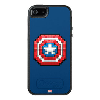 escudo de 16 bits de capitán América de Pixelated Funda Otterbox Para iPhone 5/5s/SE