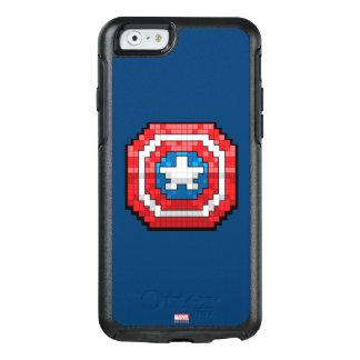 escudo de 16 bits de capitán América de Pixelated Funda Otterbox Para iPhone 6/6s