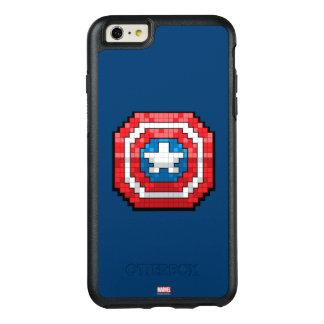 escudo de 16 bits de capitán América de Pixelated Funda Otterbox Para iPhone 6/6s Plus
