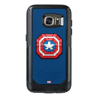 escudo de 16 bits de capitán América de Pixelated Funda Otterbox Para Samsung Galaxy S7