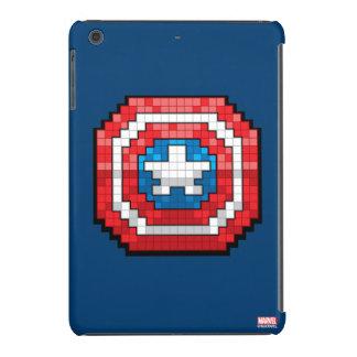 escudo de 16 bits de capitán América de Pixelated Funda Para iPad Mini Retina