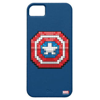 escudo de 16 bits de capitán América de Pixelated Funda Para iPhone SE/5/5s