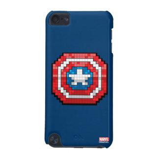 escudo de 16 bits de capitán América de Pixelated Funda Para iPod Touch 5G