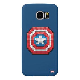 escudo de 16 bits de capitán América de Pixelated Funda Samsung Galaxy S6