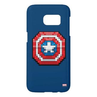 escudo de 16 bits de capitán América de Pixelated Funda Samsung Galaxy S7
