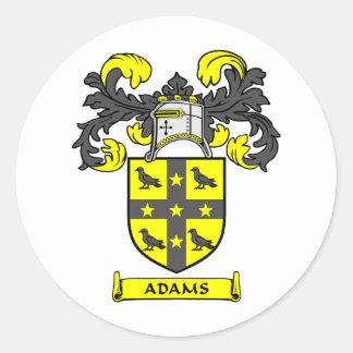 Escudo de Adams Etiquetas Redondas