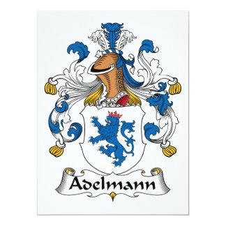 """Escudo de Adelmann Famiy Invitación 6.5"""" X 8.75"""""""