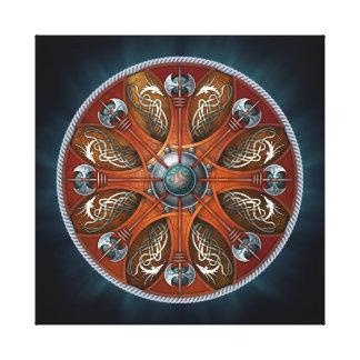 Escudo de Aegishjalmur de los nórdises Lienzo Envuelto Para Galerías