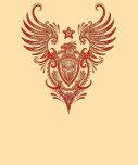 Escudo de alas rojas con el cráneo del azúcar camisetas