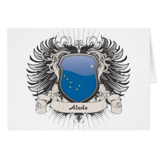 Escudo de Alaska Tarjeta De Felicitación
