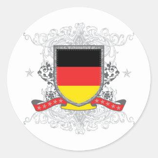 Escudo de Alemania Pegatina Redonda