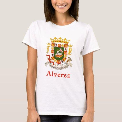 Escudo de Alverez de Puerto Rico Playera
